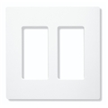 Lutron Cw-2-Wh 2 Gang Gloss Faceplate
