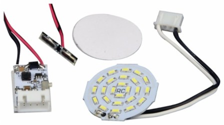Mizco DA-Dj3-Ledwh Re-Fuel LED Headlight Select DJI Phantom 3 Drones Shite (3-Pack) by Mizco