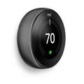 Nest T3016US Nest Thermostat Carbon Blk T3016Us Wifi 95% 24V Hvac 3Rd