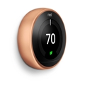 Nest T3021US Nest Thermostat Copper T3021Us Wifi 95% 24V Hvac 3Rd Gen