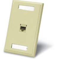 C2G 27415 1-Port Cat5E RJ45 Configured Wall Plate Ivory (3pack)
