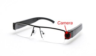 Clear Glasses Camera MiniGadgets Body Worn Camera GLCLear1080p