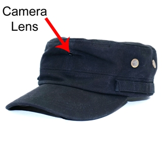 Hat Camera MiniGadgets Body Worn Camera HCNEWSBOYHAT