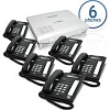 Panasonic KX-Ta824-Ext-Pk6 Bundle Sys Phones