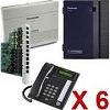Panasonic KX-Ta824-Pk6Vm Bundle Sys Phones & Vm