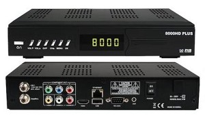 Receiver 8000HD Plus  American Digital Satellite